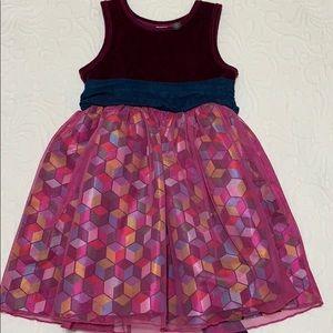Matilda Jane Miss Fancy Tank Dress Girls sz 4 EUC